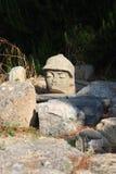 Stone head Royalty Free Stock Photo