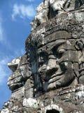 Stone head, Angkor Wat Stock Photo