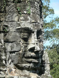 Stone head in Angkor Wat, Cambodia Stock Photos