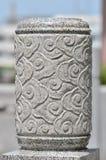 Stone head column Stock Photography