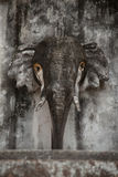 Stone head of an elephant stock photography