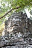 Stone head gate angkor wat Stock Photo