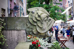 Stone head in Gdansk, Poland Royalty Free Stock Photography