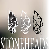 Stone head logo Stock Photos