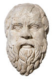 Stone Head Of The Greek Philosopher Socrates Royalty Free Stock Images