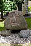 Stone Head in Riga Stock Images