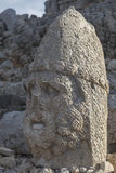 Stone head statues at Nemrut Mountain in Turkey Royalty Free Stock Images