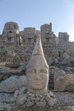 Stone head statues at Nemrut Mountain in Turkey Royalty Free Stock Photo