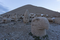 Stone head statues at Nemrut Mountain in Turkey Stock Photography