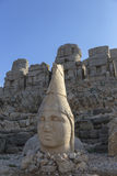 Stone head statues at Nemrut Mountain in Turkey Royalty Free Stock Image