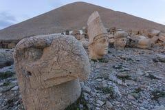 Stone head statues at Nemrut Mountain in Turkey Stock Photos