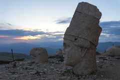 Stone head statues at Nemrut Mountain in Turkey Stock Images