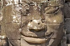 Stone head on towers of Bayon Stock Image