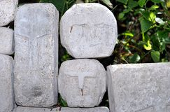 Stone Heads Stock Photos