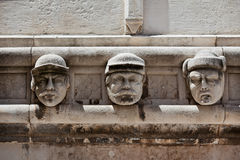 Stone heads at Cathedral of St. James in Sibenik, Croatia Royalty Free Stock Photo