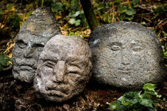 Stone heads Royalty Free Stock Images