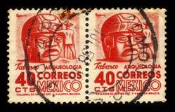 Stone heads of tabasco, Mexico royalty free stock photography