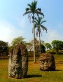 Stone heads of tabasco Mexico Stock Image