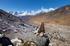 Stone heap in Himalaya mountains range. Stock Image