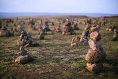 Stone heaps Stock Photography