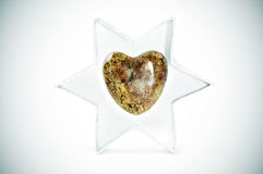 Stone heart Royalty Free Stock Image