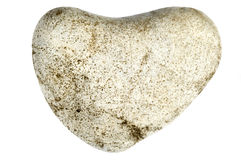 Stone heart. Isolated on hwite Stock Photos
