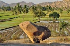 Stone heart. In the Hampi, India Royalty Free Stock Photography