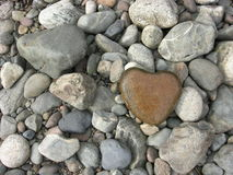 Stone heart Royalty Free Stock Photos