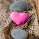 Stone heart. Still Life: A stone heart as symbol Stock Photography