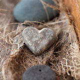 Stone heart. Still Life: A stone heart as symbol Stock Images