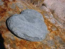 Stone Heart angled view Royalty Free Stock Photography