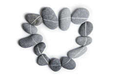 Stone Heart Art Royalty Free Stock Photos