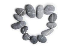 Stone Heart Art Royalty Free Stock Photos