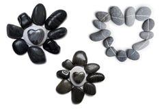 Stone Heart Art Stock Images