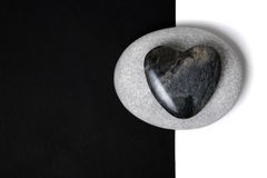 Stone Heart Art Royalty Free Stock Images