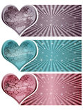 Stone heart banners Stock Images