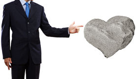 Stone heart Royalty Free Stock Photo