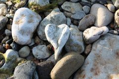 Stone heart created by nature over a long period of time royalty free stock photography