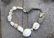 Stone heart. Happy Valentine`s Day!love is everywhere Royalty Free Stock Photography