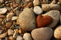 Stone heart Royalty Free Stock Images