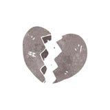 Stone heart retro cartoon Royalty Free Stock Images