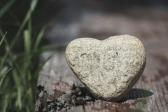 Stone heart shape Stock Photos
