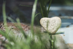 Stone heart shape Royalty Free Stock Photo