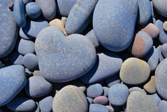 Stone heart. Heart -shaped stone in South West England royalty free stock photography