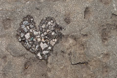 Stone with a heart Royalty Free Stock Photo
