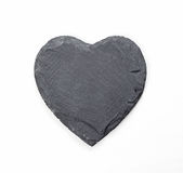 Stone heart on white background Royalty Free Stock Photo