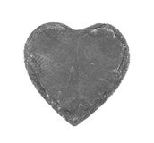 Stone heart on white background Royalty Free Stock Photography