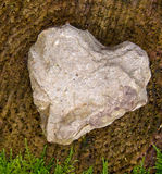 Stone heart . Royalty Free Stock Photography