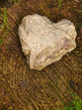 Stone heart . Royalty Free Stock Photo