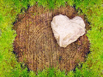 Stone heart . Royalty Free Stock Image